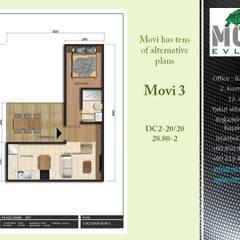 บ้านขนาดเล็ก by MOVİ evleri