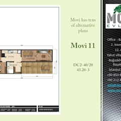 Prefabricated home by MOVİ evleri, Industrial