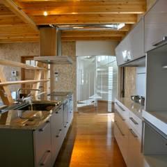 光の箱の家: 株式会社高野設計工房が手掛けたシステムキッチンです。