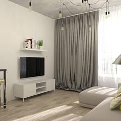 ЖК Комфорт Таун: Гостиная в . Автор – E.KAZADAEVA. Interior design, Лофт