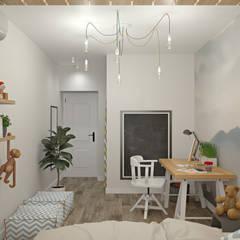 ห้องนอนเด็กหญิง by E.KAZADAEVA. Interior design