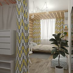 Girls Bedroom by E.KAZADAEVA. Interior design