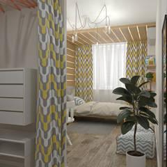 Recámaras para niñas de estilo  por E.KAZADAEVA. Interior design