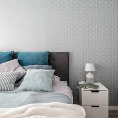 KĘPA MIESZCZAŃSKA W TURKUSIE: styl , w kategorii Sypialnia zaprojektowany przez KODO projekty i realizacje wnętrz