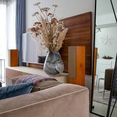 Interieurplan woonhuis Nieuw Leiden:  Woonkamer door Regina Dijkstra Design
