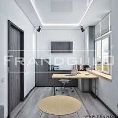 Кабинет в доме эко-хай-тек: Рабочие кабинеты в . Автор – Frandgulo