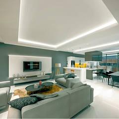 Salas de estilo  por COUTIÑO & PONCE ARQUITECTOS,