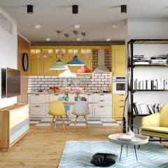 Реутов: Встроенные кухни в . Автор – MBM studio,