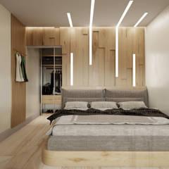 Королёв 47 м2: Маленькие спальни в . Автор – MBM studio