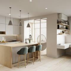 Королёв 47 м2: Кухонные блоки в . Автор – MBM studio,