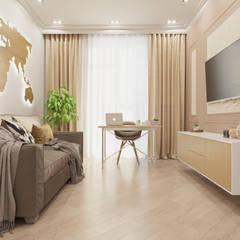 ЖК Резиденция архитекторов: Рабочие кабинеты в . Автор – MBM studio
