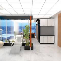 CONSULTORIO MÉDICO ESQUIVEL: Estudios y oficinas de estilo  por Arqca