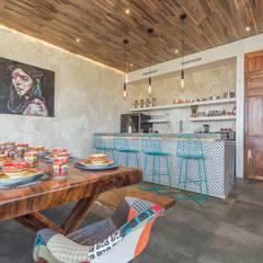 Cocinas pequeñas de estilo  por Obed Clemente Arquitectos