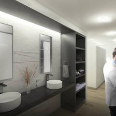 ML60: Baños de estilo  por NEGRO arquitectura, S.A. de C.V.