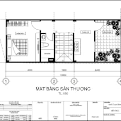 Xây Dựng Nhà Phố 1 Trệt 1 Lầu Sân Thượng 860 Triệu Tại Nhà Bè:  Nhà gia đình by Công ty TNHH Thiết Kế Xây Dựng Song Phát