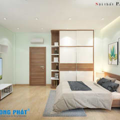 by Công ty TNHH TK XD Song Phát Modern Solid Wood Multicolored