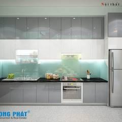 Mẫu phòng bếp với màu sắc và thiết kế bắt mắt.:  Phòng ăn by Công ty TNHH Thiết Kế Xây Dựng Song Phát