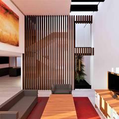 Casa Yucca : Salas de estilo  por Árbol Arquitectura, Moderno