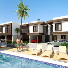 Imagen área social / Conjunto residencial Trapiche Houses / Ibagué - Colombia : Conjunto residencial de estilo  por Taller 3M Arquitectura & Construcción