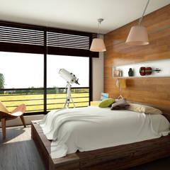Conjunto residencial Trapiche Houses / Ibagué - Colombia : Habitaciones de estilo  por Taller 3M Arquitectura & Construcción, Moderno Vidrio