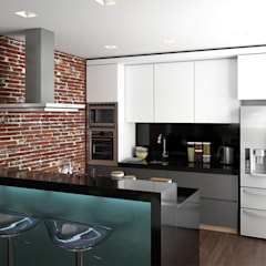 Conjunto residencial Trapiche Houses / Ibagué - Colombia : Cocinas de estilo  por Taller 3M Arquitectura & Construcción, Moderno Ladrillos