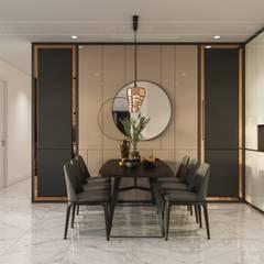 Thiết kế nội thất phong cách hiện đại tiện nghi tại căn hộ Vinhomes Central Park:  Phòng ăn by ICON INTERIOR
