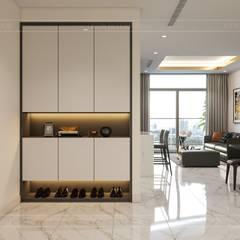 Thiết kế nội thất phong cách hiện đại tiện nghi tại căn hộ Vinhomes Central Park:  Cửa ra vào by ICON INTERIOR, Hiện đại