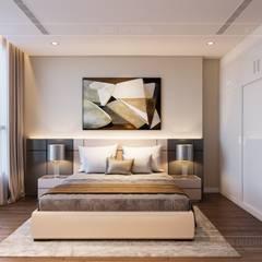 Thiết kế nội thất phong cách hiện đại tiện nghi tại căn hộ Vinhomes Central Park:  Phòng ngủ by ICON INTERIOR