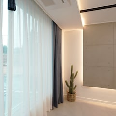 모던 인더스트리얼, 파주 빌라 프로젝트: 디자인 아버의  거실