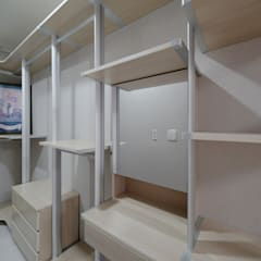 모던 인더스트리얼, 파주 빌라 프로젝트: 디자인 아버의  드레스 룸