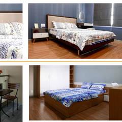 Thiết kế thi công nội thất căn hộ chung cư Goldview Quận 4:  Phòng ngủ nhỏ by Công ty TNHH Nội Thất Sense Home