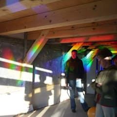 Hologrammfassade   Tages- und Kunstlicht:  Boden von Ruairí O'Brien. LICHTDESIGN.