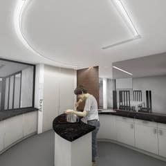 Moradia - espaço interior - cozinha: Armários de cozinha  por Arqvoid - Arquitetura e Serviços, Lda.