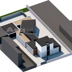 Chalets de estilo  por Arqvoid - Arquitetura e Serviços, Lda.