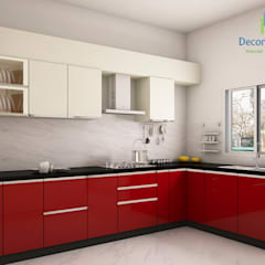 Adarsh Palm Retreat, 3BHK - Mr. Deepak:  Kitchen by DECOR DREAMS