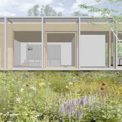 Leven op zonne-energie - Huis H:  Passiefhuis door Modle Woningen, Modern Hout Hout