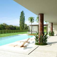 Casa Conjunto residencial Las Victorias / Ibagué - Colombia: Piscinas de jardín de estilo  por Taller 3M Arquitectura & Construcción