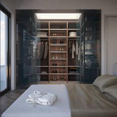 CAMERE - Render fotorealistici d'interni: Camera da letto in stile  di Insighters Computer Graphics
