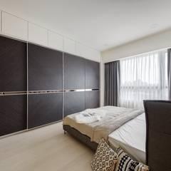Kleine slaapkamer door 微自然室內裝修設計有限公司