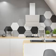 Okap skośny od Globalo w kuchni otwartej: styl , w kategorii Kuchnia zaprojektowany przez GLOBALO MAX