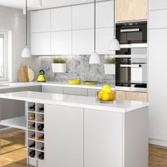 Jasna kuchnia z okapem do zabudowy: styl , w kategorii Kuchnia zaprojektowany przez GLOBALO MAX