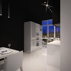 Квартира в ЖК Тихвин : Встроенные кухни в . Автор – Dmitriy Khanin