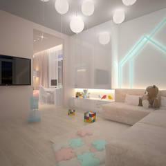 Квартира в ЖК Тихвин : Спальни для мальчиков в . Автор – Dmitriy Khanin