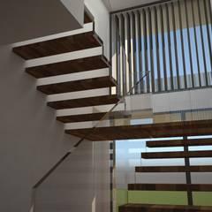 CASA MANIS: Escadas  por Atelier 72 - Arquitetura, Lda,Moderno