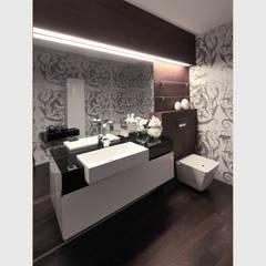 Кутузовская Ривьера I: Ванные комнаты в . Автор – Geometrix Design