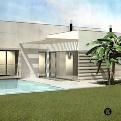 Piletas de jardín de estilo  por ATELIER OPEN ® - Arquitetura e Engenharia