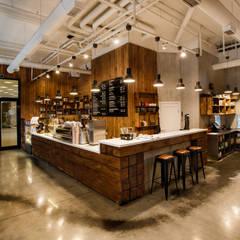Реализованный интерьер Кафе французский Пекарь  в Клевер парке на Ткачей: Рабочие кабинеты в . Автор – Дизайн Студия 33
