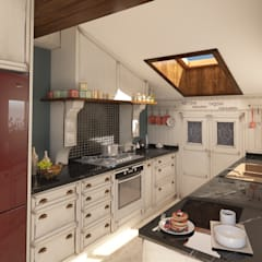Cocinas pequeñas de estilo  por Sherwood Furniture&Project&Design&Office, Rural