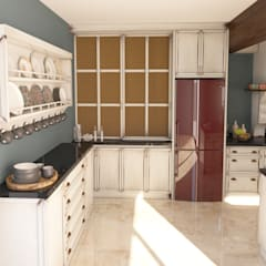 Cocinas pequeñas de estilo  por Sherwood Furniture&Project&Design&Office