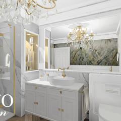 Luxury bathroom من BAYO Design Interior Design Studio إنتقائي